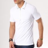 /achat-polos-manches-courtes/ikao-polo-manches-courtes-oversize-f141-blanc-136108.html