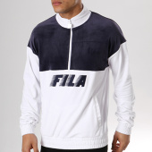 /achat-sweats-col-zippe/fila-sweat-velours-easton-684330-bleu-marine-blanc-136528.html