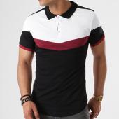 /achat-polos-manches-courtes/lbo-polo-manches-courtes-tricolore-retro-427-noir-blanc-bordeaux-136676.html