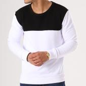 /achat-sweats-col-rond-crewneck/lbo-sweat-crewneck-bicolore-423-blanc-noir-136677.html