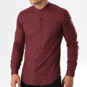 /achat-chemises-manches-longues/lbo-chemise-manches-longues-col-mao-slim-fit-402-bordeaux-136699.html