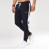 /achat-pantalons-joggings/classic-series-pantalon-jogging-avec-bandes-trio-bleu-marine-bordeaux-137114.html