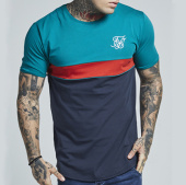 /achat-t-shirts-longs-oversize/siksilk-tee-shirt-oversize-curved-sport-12002-bleu-clair-bleu-marine-rouge-137228.html