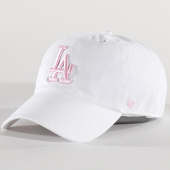 /achat-casquettes-de-baseball/47-brand-casquette-mlb-los-angeles-dodgers-clean-up-rgw12gwsnl-blanc-rose-137391.html