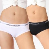 /achat-strings-culottes/emporio-armani-lot-de-2-culottes-femme-163263-cc317-blanc-noir-137573.html