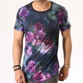 /achat-t-shirts-longs-oversize/terance-kole-tee-shirt-oversize-16345-noir-bleu-marine-floral-137628.html