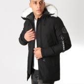 /achat-parkas/crossby-parka-fourrure-ray-avec-poche-bomber-noir-blanc-137859.html