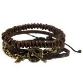 /achat-bracelets/icon-brand-lot-de-3-bracelets-wrapped-up-combo-marron-dore-138239.html