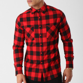 /achat-chemises-manches-longues/urban-classics-chemise-manches-longues-tb297-noir-rouge-138539.html
