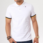 /achat-polos-manches-courtes/k-way-polo-manches-courtes-vincent-contrast-blanc-138633.html