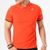 /achat-polos-manches-courtes/k-way-polo-manches-courtes-vincent-contrast-rouge-138636.html