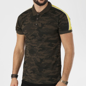 /achat-polos-manches-courtes/brave-soul-polo-manches-courtes-bande-brodee-scott-vert-kaki-camouflage-jaune-138851.html