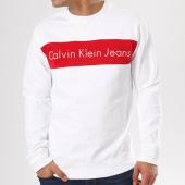 /achat-sweats-col-rond-crewneck/calvin-klein-sweat-crewneck-hayo-1-blanc-rouge-138836.html