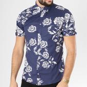 /achat-chemises-manches-courtes/classic-series-chemise-manches-courtes-3332-bleu-marine-blanc-floral-138709.html