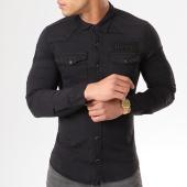/achat-chemises-manches-longues/classic-series-chemise-manches-longues-patchs-brodes-g136-noir-138806.html