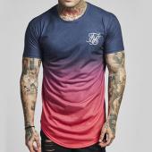 /achat-t-shirts-longs-oversize/siksilk-tee-shirt-oversize-curved-hem-faded-12403-bleu-marine-degrade-rose-138876.html