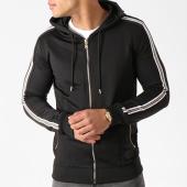 /achat-sweats-zippes-capuche/project-x-sweat-zippe-capuche-bandes-brodees-88183331-noir-blanc-dore-139078.html