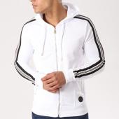 /achat-sweats-zippes-capuche/project-x-sweat-zippe-capuche-bandes-brodees-88183331-blanc-noir-dore-139079.html