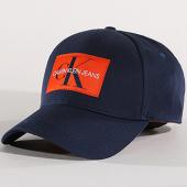 /achat-casquettes-de-baseball/calvin-klein-casquette-monogram-0256-bleu-marine-orange-139366.html