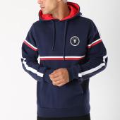 /achat-sweats-col-rond-crewneck/anthill-sweat-capuche-avec-bandes-line-bleu-marine-139778.html