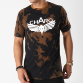/achat-t-shirts/charo-tee-shirt-bleached-washed-noir-marron-139749.html