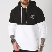 /achat-sweats-capuche/final-club-sweat-capuche-bicolore-avec-broderie-049-noir-blanc-139884.html