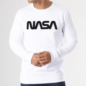 /achat-sweats-col-rond-crewneck/nasa-sweat-crewneck-worm-logo-terry-blanc-140062.html
