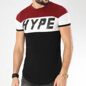 /achat-t-shirts-longs-oversize/john-h-tee-shirt-oversize-1895-noir-blanc-bordeaux-140184.html