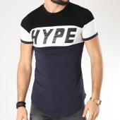 /achat-t-shirts-longs-oversize/john-h-tee-shirt-oversize-1895-bleu-marine-blanc-noir-140186.html