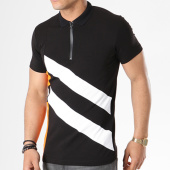 /achat-polos-manches-courtes/classic-series-polo-manches-courtes-8001o-noir-blanc-orange-140337.html