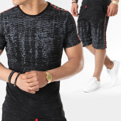 /achat-ensembles-survetement/classic-series-ensemble-tee-shirt-short-jogging-bandes-brodees-8009b-noir-rouge-140347.html