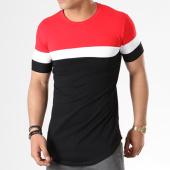 /achat-t-shirts-longs-oversize/john-h-tee-shirt-oversize-tricolore-1836-noir-rouge-blanc-140340.html