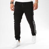 /achat-jogger-pants/john-h-jogger-pant-avec-bandes-7662-noir-blanc-140342.html