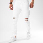 /achat-jeans/john-h-jean-slim-dechire-avec-zips-c001-blanc-140384.html