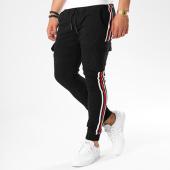 /achat-jogger-pants/john-h-jogger-pant-avec-bandes-7662-noir-140391.html