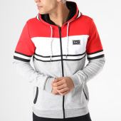 /achat-sweats-zippes-capuche/unkut-sweat-zippe-capuche-bridge-gris-chine-blanc-rouge-140447.html