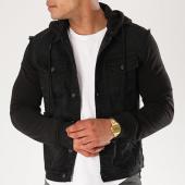 /achat-vestes-jean/classic-series-sweat-capuche-boutonne-2297-noir-140513.html