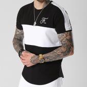 /achat-t-shirts/final-club-tee-shirt-premium-fit-avec-bandes-et-broderie-062-noir-et-blanc-140587.html