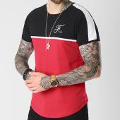 /achat-t-shirts-longs-oversize/final-club-tee-shirt-premium-fit-avec-bandes-et-broderie-063-noir-blanc-rouge-140588.html