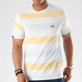 /achat-t-shirts/wrung-tee-shirt-lines-blanc-bleu-clair-jaune-140609.html
