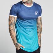 /achat-t-shirts-longs-oversize/siksilk-tee-shirt-oversize-poly-contrast-fade-gym-12294-bleu-marine-degrade-bleu-turquoise-140633.html