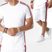 /achat-ensembles-survetement/john-h-ensemble-tee-shirt-oversize-short-jogging-bandes-brodees-607-blanc-noir-rouge-140861.html