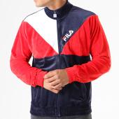 /achat-vestes/fila-veste-zippee-velours-toby-684332-bleu-marine-blanc-rouge-141014.html