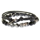 /achat-bracelets/icon-brand-lot-de-2-bracelets-athens-combo-gris-anthracite-blanc-141073.html