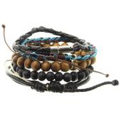 /achat-bracelets/icon-brand-lot-de-5-bracelets-dave-dudley-marron-noir-bleu-clair-141097.html