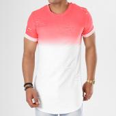 /achat-t-shirts-longs-oversize/john-h-tee-shirt-oversize-t09165-rose-degrade-blanc-141123.html