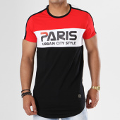 /achat-t-shirts-longs-oversize/terance-kole-tee-shirt-oversize-bandes-brodees-98105-noir-blanc-rouge-141113.html