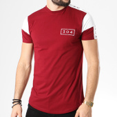 /achat-t-shirts-longs-oversize/304-clothing-tee-shirt-oversize-avec-bandes-elite-tape-bordeaux-blanc-141188.html