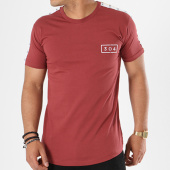 /achat-t-shirts-longs-oversize/304-clothing-tee-shirt-oversize-bandes-brodees-cult-bordeaux-blanc-ecru-141190.html