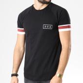 /achat-t-shirts-longs-oversize/304-clothing-tee-shirt-bandes-brodees-jackson-noir-blanc-bordeaux-141195.html